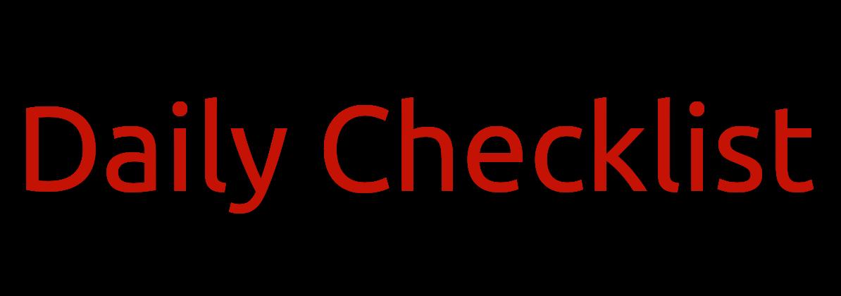 List: Daily Checklist